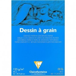 Dessin Blanc à Grain – A3 –...